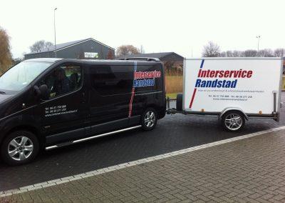 Interservice randstad bus aanhangwagen