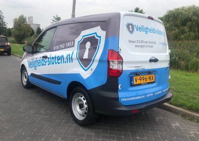 Veiligheidssloten autobelettering